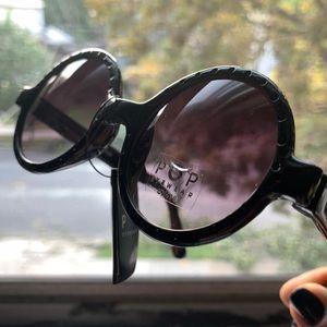 NEW Big Lavender Gradient Black Sunglasses